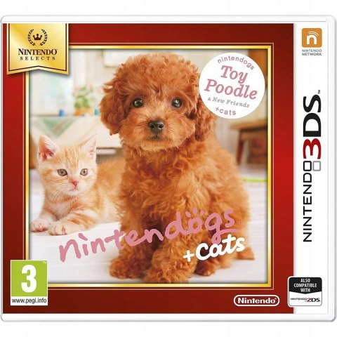 GRA NINTENDO DOGS TOY POODLE AND CATS PIES KOT 3DS 020